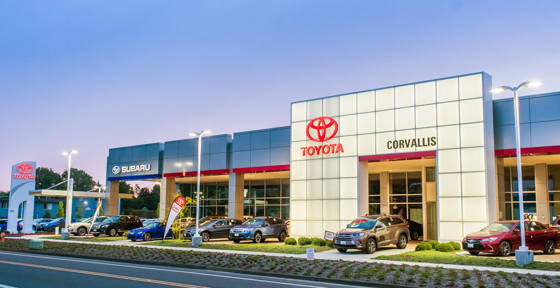 Toyota of Corvallis Commercial Glass Installation