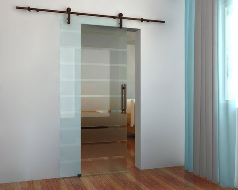Gentil Interior Sliding Glass Barn Door