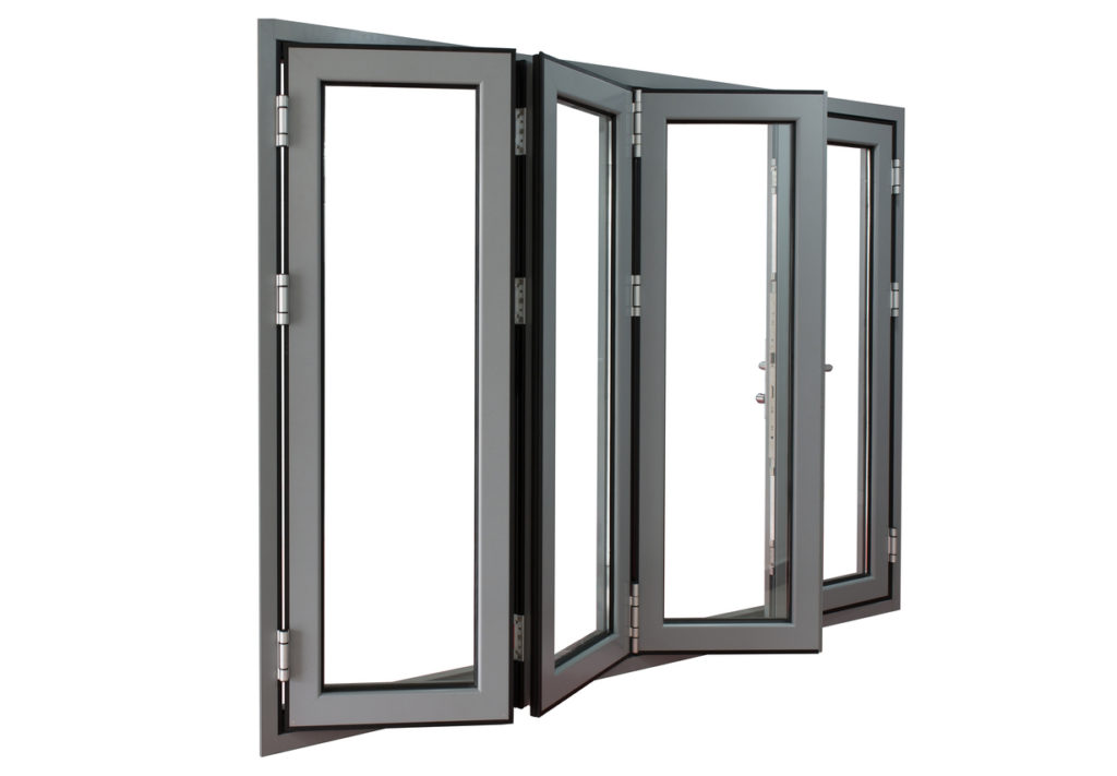 aluminium powder coated frame bi-fold doors